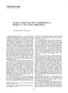 Jacques oudot and his contribution to surgery of the aortic bifurcation