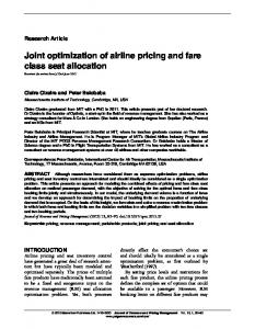 Joint optimization of airline pricing and fare class seat allocation