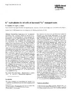 K+ recirculation in A6 cells at increased Na+ transport rates