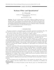 Kalman filter and quantization