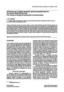 Kinetics of carbon dioxide mechanosorption by Ca-containing silicates