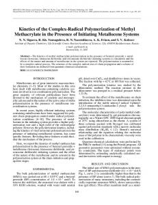 Kinetics of the complex-radical polymerization of methyl methacrylate in the presence of initiating metallocene systems