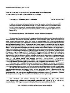 Kinetics of the dehydration of 2-propanol on modified activated charcoal containing acid sites