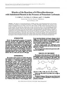 Kinetics of the Reactions of 4-Nitrochlorobenzene with Substituted Phenols in the Presence of Potassium Carbonate