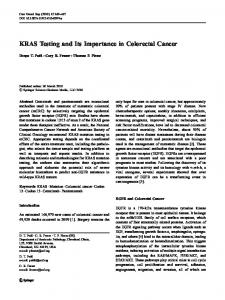 KRAS Testing and Its Importance in Colorectal Cancer