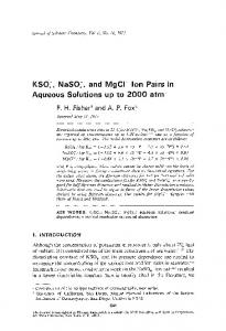 KSO 4 −  , NaSO 4 −  , and MgCl+ ion pairs in aqueous solutions up to 2000 atm