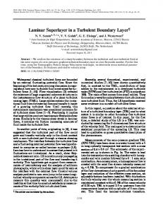 Laminar superlayer in a turbulent boundary layer