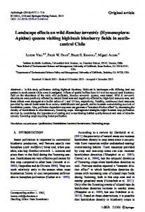 Landscape effects on wild Bombus terrestris (Hymenoptera: Apidae) queens visiting highbush blueberry fields in south-central Chile