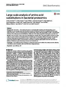 Large scale analysis of amino acid substitutions in bacterial proteomics