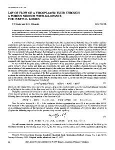 Law of flow of a viscoplastic fluid through a porous medium with allowance for inertial losses