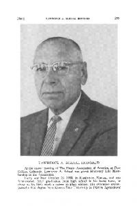 Lawrence A. Schaal honored