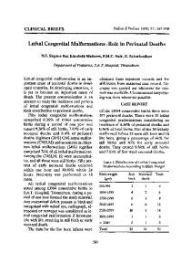 Lethal congenital malformations—role in perinatal deaths