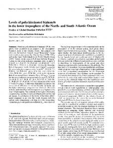 Levels of polychlorinated biphenyls in the lower troposphere of the North- and South-Atlantic Ocean