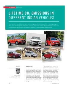 Lifetime CO2 Emissions in Different indian Vehicles