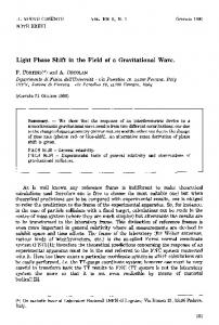 Light phase shift in the field of a gravitational wave