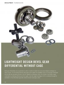 Lightweight Design Bevel Gear Differential Without Cage