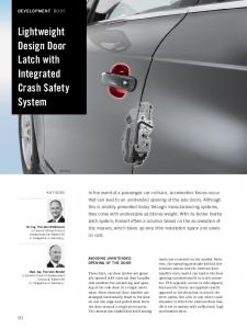 Lightweight Design Door Latch with Integrated Crash Safety System