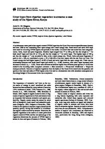 Litter input from riparian vegetation to streams: a case study of the Njoro River, Kenya