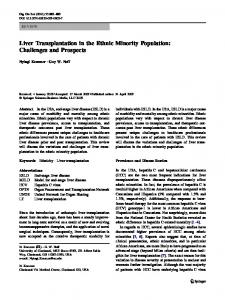 Liver Transplantation in the Ethnic Minority Population: Challenges and Prospects