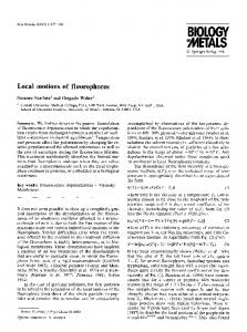 Local motions of fluorophores