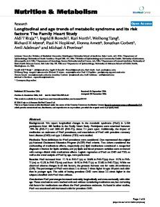 Longitudinal and age trends of metabolic syndrome and its risk factors: The Family Heart Study