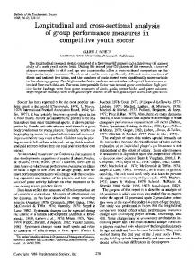 Longitudinal and cross-sectional analysis of group performance measures in competitive youth soccer