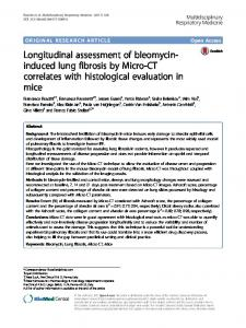 Longitudinal assessment of bleomycin-induced lung fibrosis by Micro-CT correlates with histological evaluation in mice