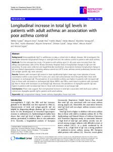 Longitudinal increase in total IgE levels in patients with adult asthma: an association with poor asthma control