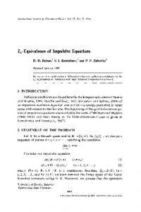 Lp-Equivalence of impulsive equations