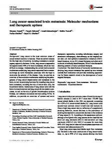 Lung cancer-associated brain metastasis: Molecular mechanisms and therapeutic options