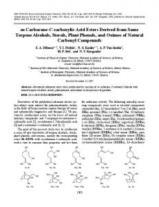 m-Carborane-C-carboxylic acid esters derived from some terpene alcohols, sterols, plant phenols, and oximes of natural carbonyl compounds