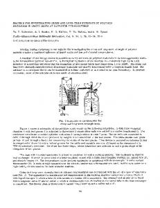 Machine for investigating creep and long-term strength of polymer. Materials in liquid media at elevated temperatures