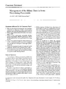 Management of the biliary tract in acute necrotizing pancreatitis