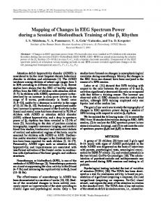 Mapping of Changes in EEG Spectrum Power during a Session of Biofeedback Training of the β1 Rhythm