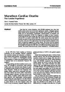 Marathon Cardiac Deaths