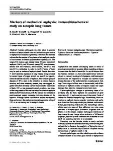 Markers of mechanical asphyxia: immunohistochemical study on autoptic lung tissues