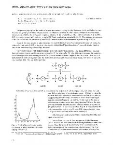 Mass-spectrometric analysis of synthetic alkyl benzenes