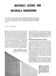 Materials science and materials engineering