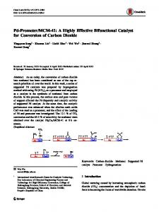 MCM-41: A Highly Effective Bifunctional Catalyst for Conversion of Carbon Dioxide