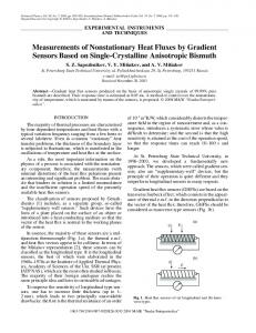 Measurements of nonstationary heat fluxes by gradient sensors based on single-crystalline anisotropic bismuth