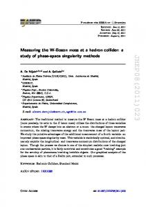 Measuring the W-Boson mass at a hadron collider: a study of phase-space singularity methods