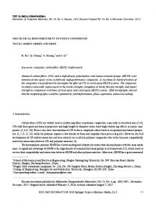 Mechanical Reinforcement of Epoxy Composites with Carbon Fibers and HDPE