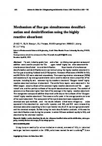 Mechanism of flue gas simultaneous desulfurization and denitrification using the highly reactive absorbent