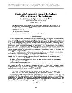 Media with nonclassical form of the surfaces of wave vectors of classical optics