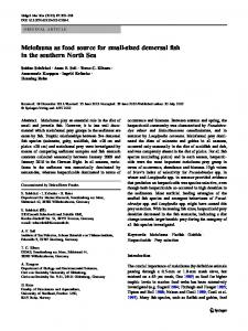 Meiofauna as food source for small-sized demersal fish in the southern North Sea