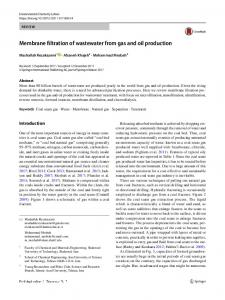 Membrane filtration of wastewater from gas and oil production