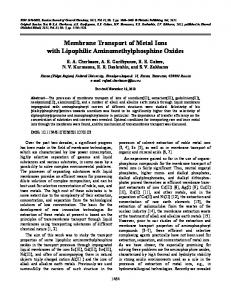 Membrane transport of metal ions with lipophilic aminomethylphosphine oxides