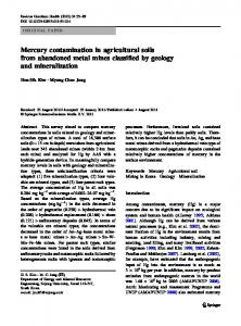 Mercury contamination in agricultural soils from abandoned metal mines classified by geology and mineralization