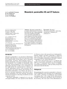 Mesenteric panniculitis: US and CT features