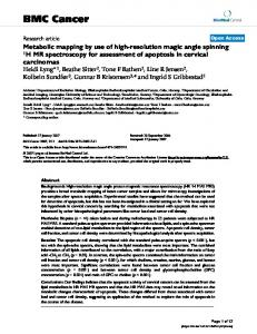 Metabolic mapping by use of high-resolution magic angle spinning 1H MR spectroscopy for assessment of apoptosis in cervical carcinomas